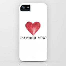 L'amour True Love Slogan Heart Print iPhone Case