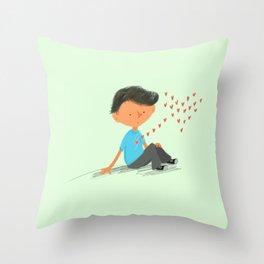 Boy in Love Throw Pillow