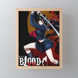 blood anime Framed Mini Art Print