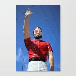 Muffler Man: Red Canvas Print