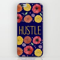hustle iPhone & iPod Skins featuring Hustle by Yardia