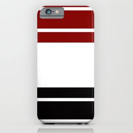 TEAM COLORS 9 .... Maroon, black and white iPhone Case