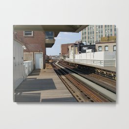 "Damen ""el"" Stop/Chicago Metal Print"