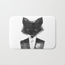 minima - dapper fox | noir Bath Mat