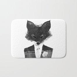 minima - dapper fox | noir Bath Mat
