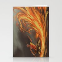 aang Stationery Cards featuring Avatar Aang by Zack Coleman