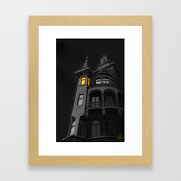Haunted House (#Drawlloween2016 Series) Framed Art Print