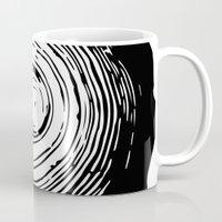 tree rings Mugs featuring Tree Rings by vogel