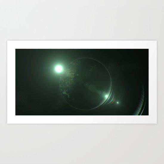 Planet Art Print