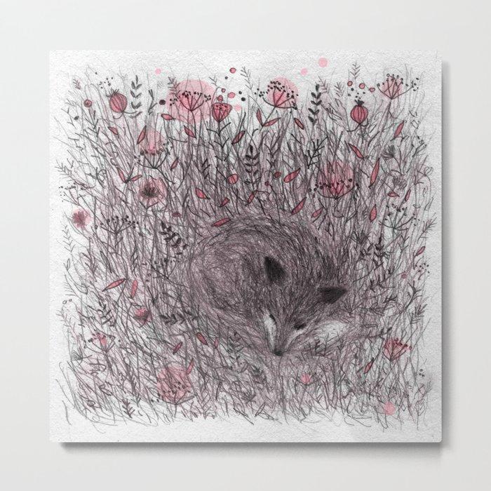 Sleeping fox Metal Print