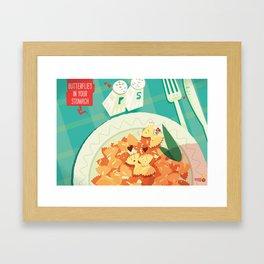 :::Butterflies in your stomach::: Framed Art Print