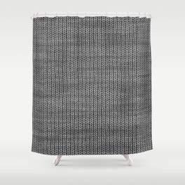Antiallergenic Hand Knitted Grey Wool Pattern - Mix & Match with Simplicty of life Shower Curtain