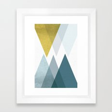 TRIANGLES ABSTRACT Framed Art Print