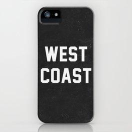 West Coast - black version iPhone Case