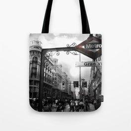 Gran Via-Madrid Tote Bag