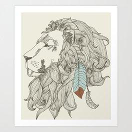 chief in Colour Art Print