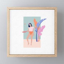 Colour sass - Tropical vacay Framed Mini Art Print