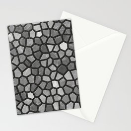 Faux Stone Mosaic in Darker Grays Stationery Cards