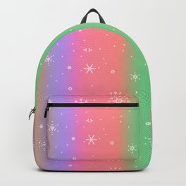 Pastel Rainbow with Snowflakes Backpack