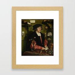 Hans Holbein the Younger - The Merchant Georg Gisze Framed Art Print