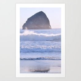 HAYSTACK ROCK - CAPE KIWANDA - PACIFIC CITY - OREGON Art Print