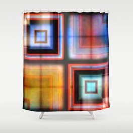 Multicolored Squares 1 Shower Curtain