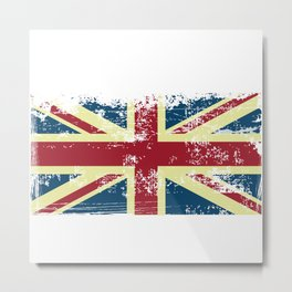 United Kingdom Grunge Flag Metal Print