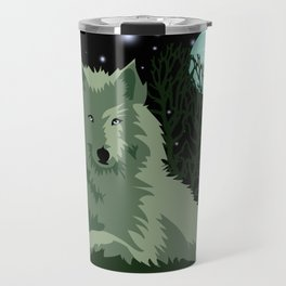 Wolf Vector Animals Travel Mug