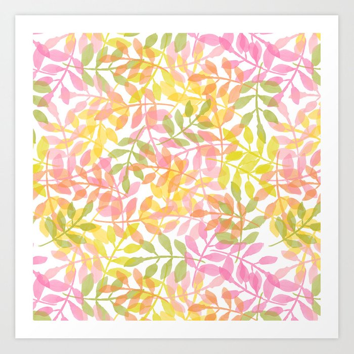 Curved Vines Art Print