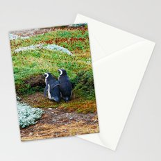 Magellanic Penguins in Love Stationery Cards