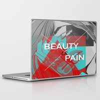 comic book Laptop & iPad Skins featuring Comic Book Beauty by Coyvan