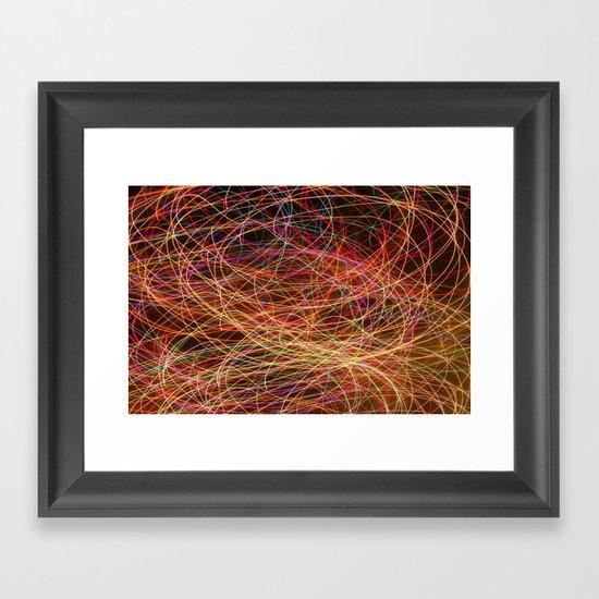 Lightpainting Framed Art Print