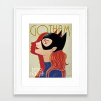 gotham Framed Art Prints featuring Gotham by SatrunTwins