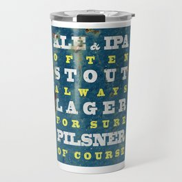 Beer always, metal background poster Travel Mug
