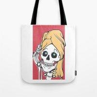 skeleton Tote Bags featuring Skeleton by NathanJoyce