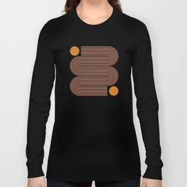 Abstraction_SUN_LINE_ART_Minimalism_002 Long Sleeve T-shirt