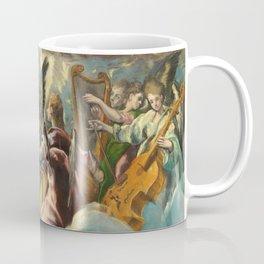 """El Greco (Domenikos Theotokopoulos) """"The Annunciation (angels)(1597-1699)"""" Coffee Mug"""