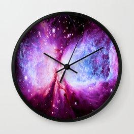 A Star is Born Nebula Wall Clock