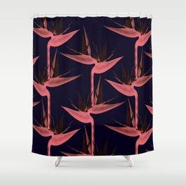 Strelitzia Alba SE Shower Curtain