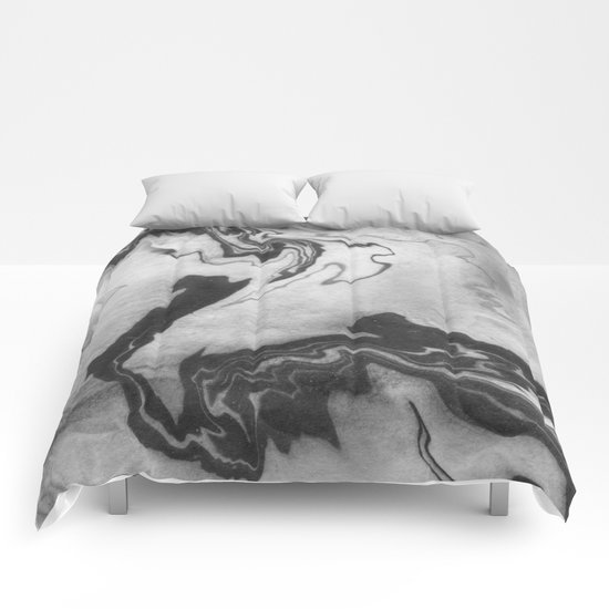 Hiroto - ink japanese marble paper free monoprint pattern marbled cell phone case india ink painting Comforters
