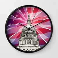 politics Wall Clocks featuring The World of Politics by politics