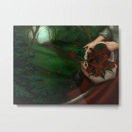 The Red Triskelion Metal Print