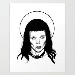 Alice Glass (Black & White) Art Print