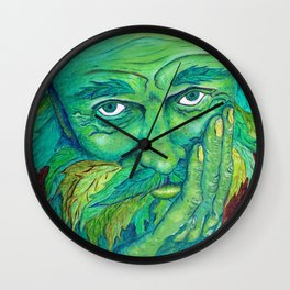The Greenman by Mary Bottom Wall Clock