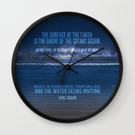The Shores of the Cosmic Ocean Wall Clock