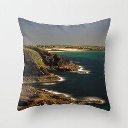 Trevose Head to Constantine Bay, Cornwall, UK Throw Pillow