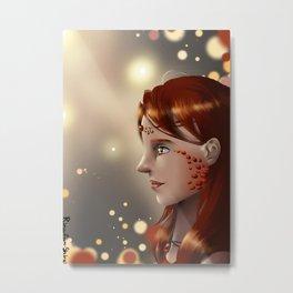 Fire eyes Metal Print