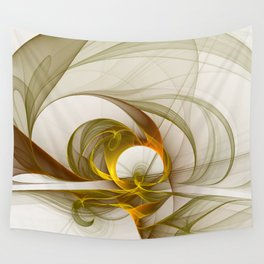 Fractal Art Precious Metals, Abstract Graphic Wall Tapestry