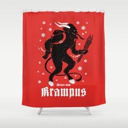 Krampus Shower Curtain