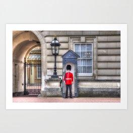 Buckingham Palace Queens Guard Art Print